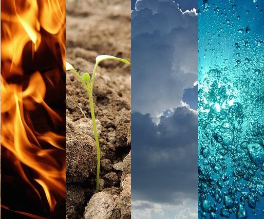 Die vier Elemente - Luft, Feuer, Wasser, Erde